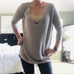Express tan sweater - EXTRA LONG